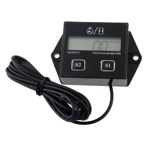 Hour meter Tachometer 2 & 4 Stroke Small Engine Spark For Boat Outboard Mercury