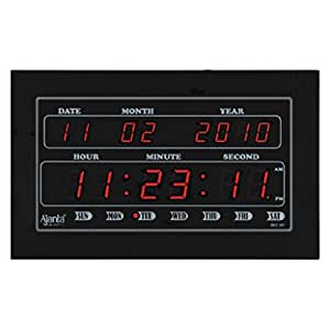 Buy ajanta digital led wall clock black online at low for Led digital wall clock in india