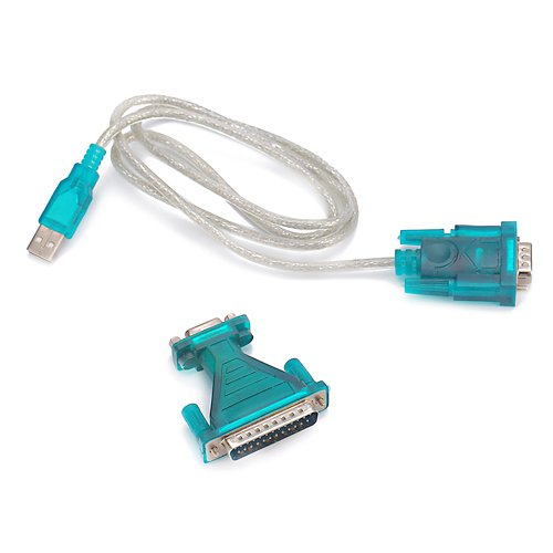 USB to RS232 DB9 Serial Cable + DB25 Pin Adapter
