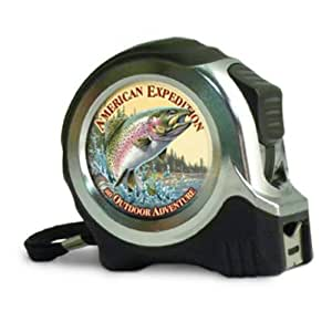 American Expediton TAPE-512 Rainbow Trout 25-ft. Metal Tape Measure