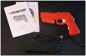 Starter Arcade Guns PC Light Gun Kit (Red) - [White Buttons/Trigger] from Harbo Entertainment LLC