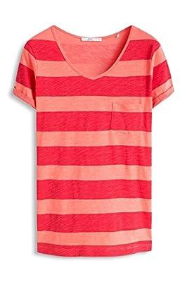 edc by Esprit Women's 056cc1k016-Basic Striped T-Shirt