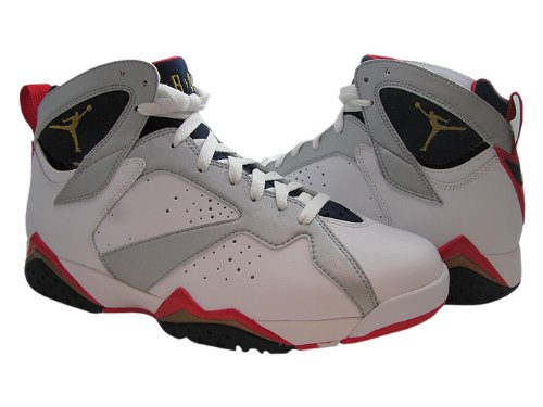 reputable site 370fe 748d7 The Features Nike Mens Air Jordan 7 Retro White Basketball Shoes US 9 5 -
