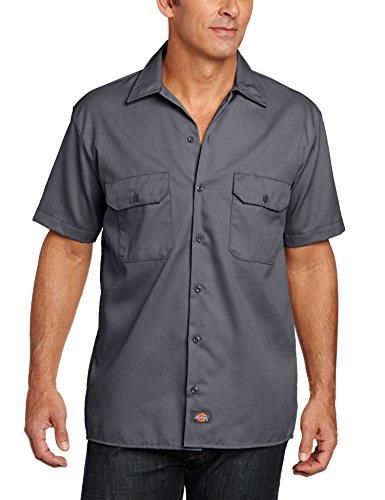 Dickies - Camicia a maniche corte, Uomo, Grigio (Charcoal Grey), XXX-Large (Taglia Produttore: XXX-Large)