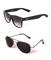 Elligator Black Aviator Sunglasses (ELG_BLK01_SIL-SG)