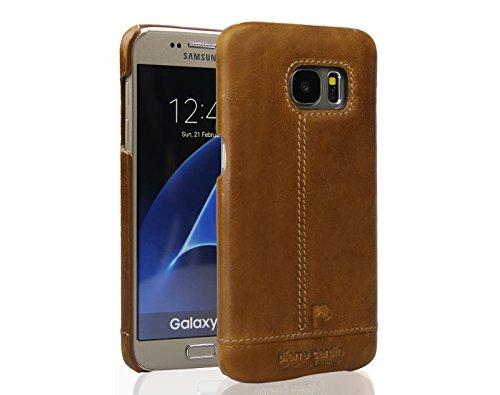 Galaxy S7 Custodia , Pierre Cardin Custodia rigida con copertina nera sottile Premium di Lusso in autentica Case Cover Per Galaxy S7