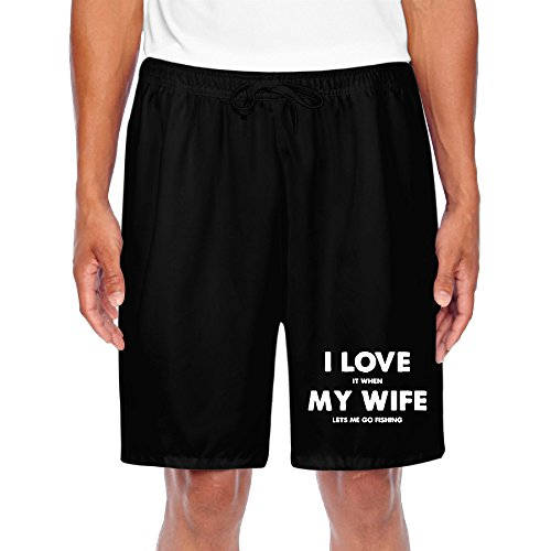Logo Print I Love It When My Wife Lets Me Go Fishing Men Training Classic Performance Striker Athletic Short (Quilt Pattern The Gypsy Wife compare prices)