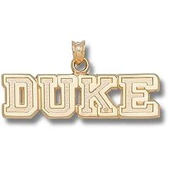 Duke University Block Duke - 14K Gold by Logo Art
