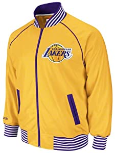 Los Angeles Lakers Gold Mitchell & Ness Downtown Track Jacket by Mitchell & Ness