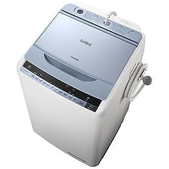 日立 8.0kg 全自動洗濯機 ブルーHITACHI ビートウォッシュ BW-8WV-A