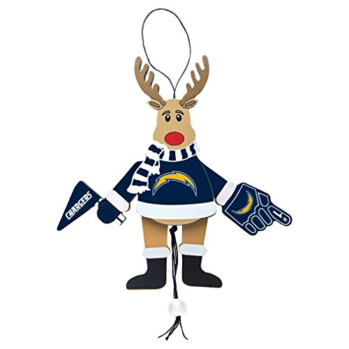 NFL San Diego Chargers Wooden Cheer Ornament