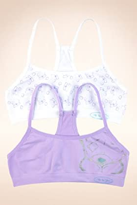 2 Pack - Older Girls' Tatty Teddy Seam Free Foil Crop Tops