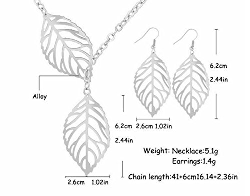 buy-any-2-get-1-free-silver-double-leaf-necklace-earrings-set-unique-fashion-jewellery-silver-doube-