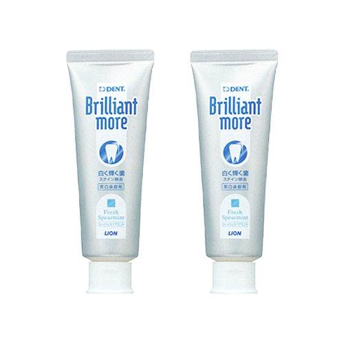 ブリリアントモア 歯科用 美白歯磨剤 90g × 2本 フレッシュスペアミント (フレッシュスペアミント)