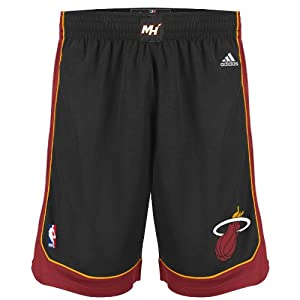 NBA Men's Miami Heat Swingman Short (Black, Large)