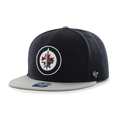 NHL Winnipeg Jets Big Shot Snapback Adjustable Cap, One Size, Navy