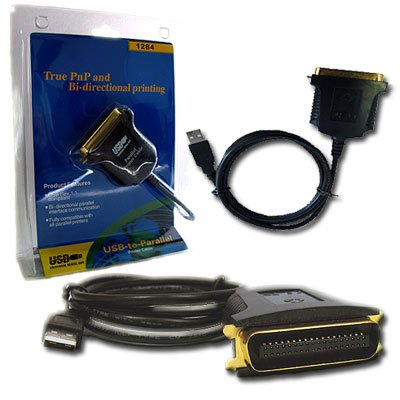usb to ieee 1284 parallel port adapter cable for hp. Black Bedroom Furniture Sets. Home Design Ideas