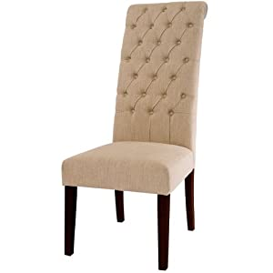 Amazon.com - Best Selling Natural Tall Tufted Dining Chair, 2-