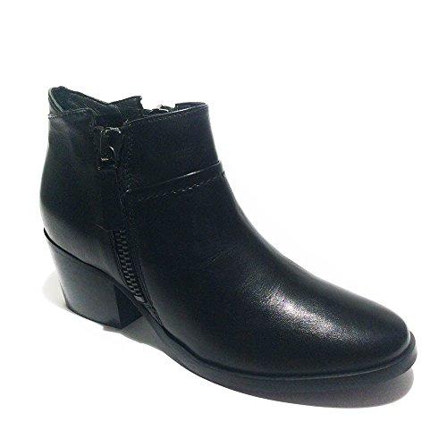 Carmens Padova tronchetto a caviglia donna pelle nero tacco 5cm art.34272 35