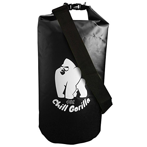 Waterproof Dry Bags by Chill Gorilla. 40L Black. Roll Top Dry Compression Sack Keeps Gear Dry for Kayaking, Beach, Rafting, Boating, Hiking, Camping, Fishing and Outdoors. (Dry Top Kayak compare prices)