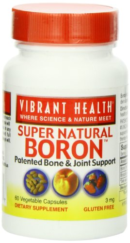 Vibrant Health Phyto-Boron, 3 Mg, Vegicaps, 60-Count