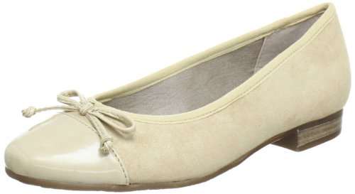 Jana Jana Fashion Ballet Flats Women Beige Beige (DUNE 405) Size: EU 40.5 (UK 7) (US 7)