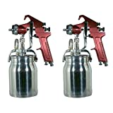 Astro Pneumatic Tool 4008 Spray Gun with Cup - Red Handle 1.8mm Nozzle (?wo ?ack) (Tamaño: ?wo ?ack)