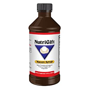 Premium Yacon Syrup by Nutrigift - 100% Pure Yacon Syrup - All Natural Weight Loss - Low Calorie, Low Glycemic Sugar Substitute - The Metabolic Game Changer - Natural Prebiotic Supports Digestive & Intestinal Health - Highest Levels of FOS - Delicious Taste - No Additives or Preservatives - Metabolism Booster - Try It With The Best Money Back Guarantee on Amazon