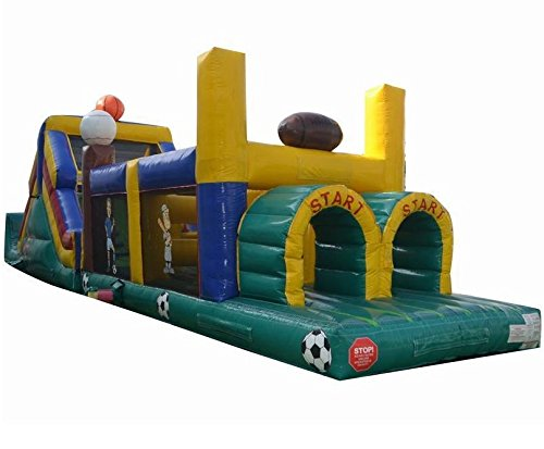 Inflatable Sports Obstacle Course- Includes 2 Free 1.5 HP Blowers and Free Shipping