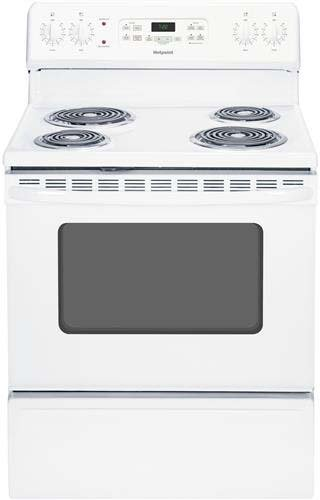 """Hotpoint Rb720Dhww 30"""" White Electric Coil Range front-534809"""
