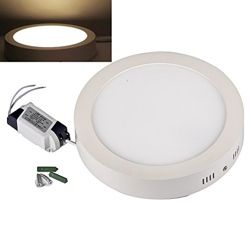Mudder® Round Shape Led Surface Panel Light Ceiling Downlight Lamp 110-240V Ac (Warm White, 18W)