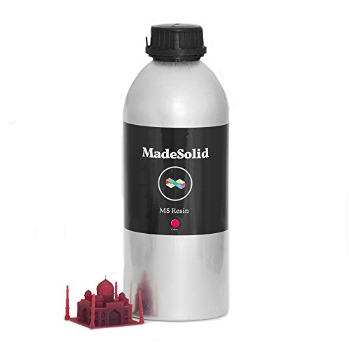MadeSolid MS Resin V2 for SLA and DLP 3D Printers, 1 Liter, Red (Printer Resin compare prices)