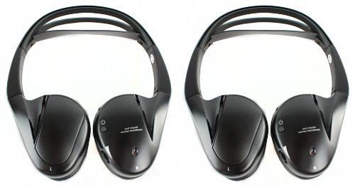 2) Audiovox Ir2Cff Fold Flat Dual-Channel Wireless Infrared Stereo Headphones