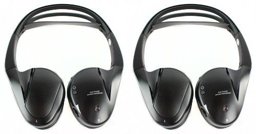 2) Audiovox Ir2Cff Fold Flat Dual-Channel Wireless Infrared Stereo Headphones