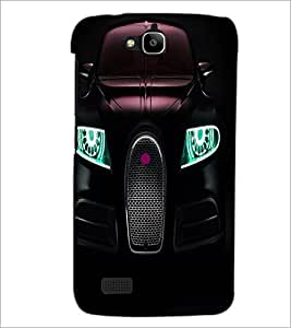 PrintDhaba Car Front D-3313 Back Case Cover for HUAWEI HONOR HOLLY (Multi-Coloured)