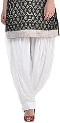 Sohniye Womens Viscose Patiala [GAKP02_White_Free Size]