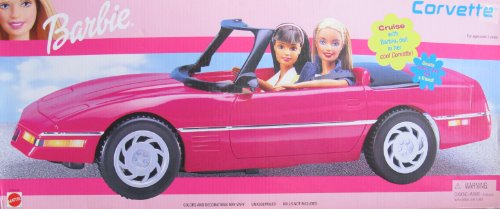 Barbie corvette power wheels march 2013 for Motorized barbie convertible car