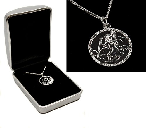 Silver Plated Saint Christopher Necklace  Personalised