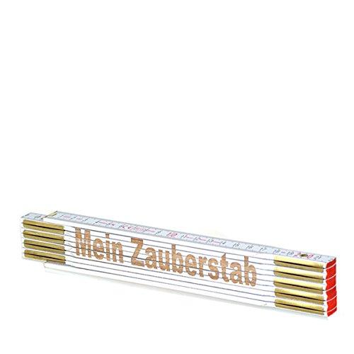 zollstock mit gravur text mein zauberstab spruch lasergravur geschenk mann vatertag geburtstag. Black Bedroom Furniture Sets. Home Design Ideas