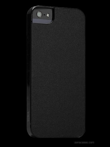Best Price Sena Ultra Thin Snap on for iPhone 5 - Matte Black/Black - 8397D3