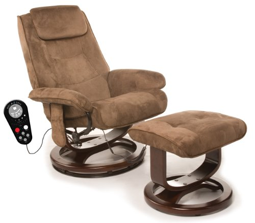 Relaxzen 60 078011 leisure massage reclining chair with heat in microsuede brown super cheap - Cheap relaxing chairs ...