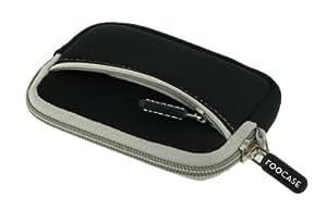 rooCASE Neoprene Sleeve (Black) Carrying Case for Sony Cyber-shot Digital Camera DSC-TX20 TX66 TX200V WX50 WX70 WX150 W610 W620 W650 W690