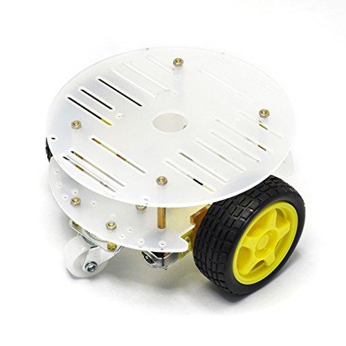 Gikfun 2WD Mini Round Double-Deck Smart Robot Car Chassis DIY Kit for Arduino EK1780 (2wd Robot Car compare prices)