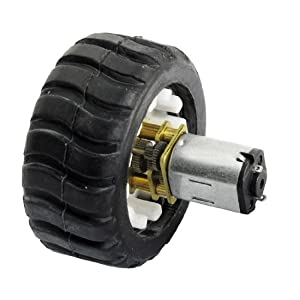45rpm 6v n20 dc geared motor w rubber wheel for diy robot for Best dc motors for robots