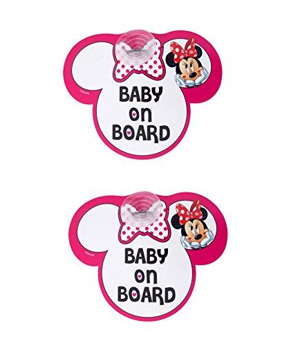lot-de-2-stickers-disney-minnie-mouse-motif-baby-on-board-rose