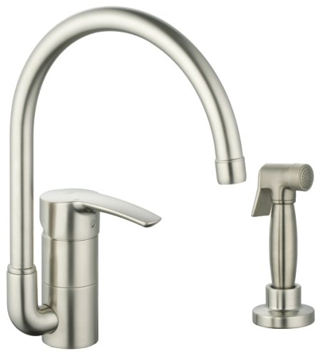 GROHE 33 980 EN1 Eurostyle Kitchen Faucet with Hose and Spray, Brushed Nickel