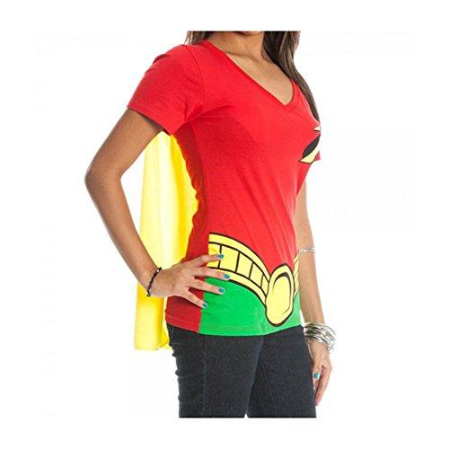 dc-comics-robin-juniors-red-v-neck-cape-t-shirt-l