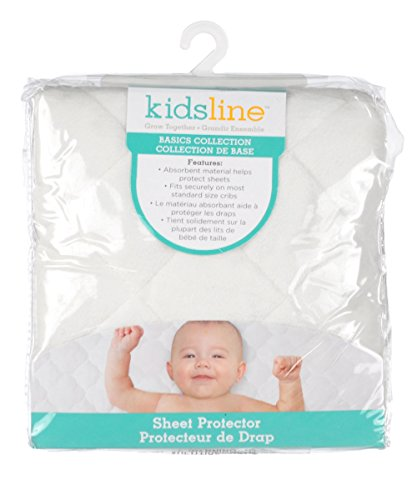 kidsline Waterproof Sheet Protector, Ecru Velour