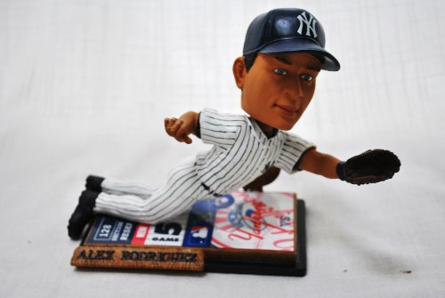New York Yankee Official Mlb #13 Alex Rodriguez Rare Ticket Base Action (Diving) Bobble Head