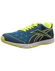 Reebok Men's Dash Out Lp Evolved Blue,Reebok Navy,White And Solar Green Running Shoes - 8 Uk - B00UYN4U3Q